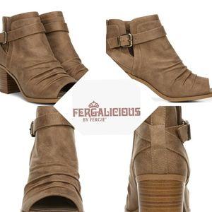 Fergalicious Jaded Women's Peep Toe Ankle Boots